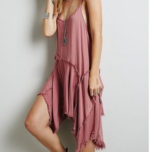 Intimately Free People Pink Tattered Up Slip Dress